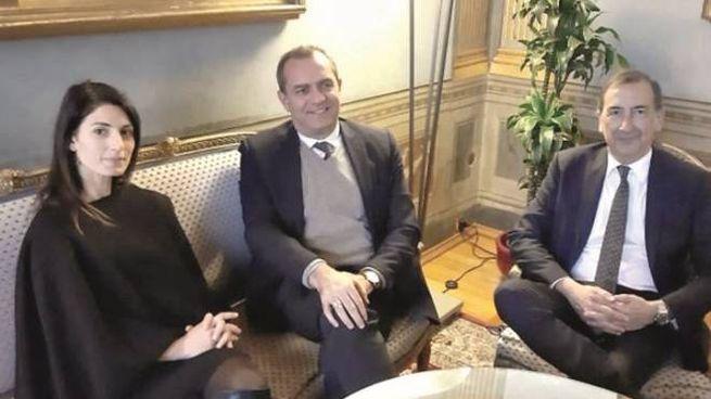 Virginia Raggi, Luigi De Magistris e Beppe Sala