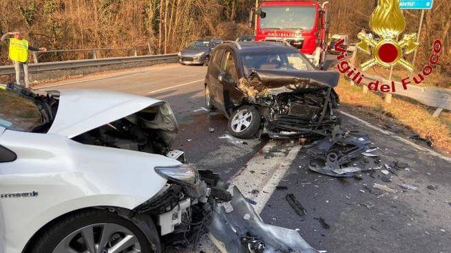 Un'immagine dell'incidente in Valle Mulini