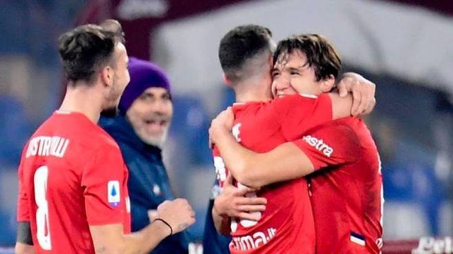 Federico Chiesa in gol contro il Napoli (Ansa)