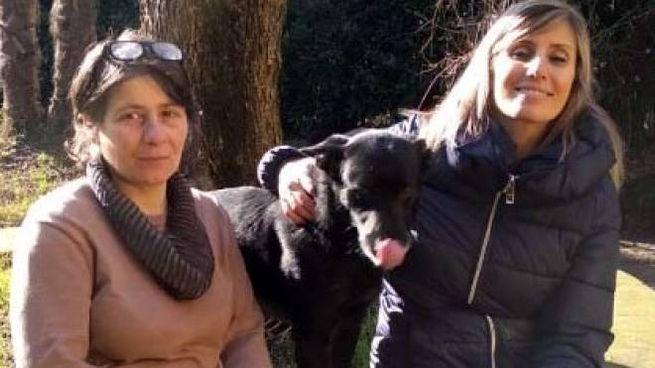 Vanessa Paterni, con il cane Black