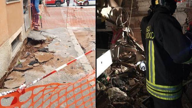 La buca in strada a Roma, il crollo a Catania (Dire)