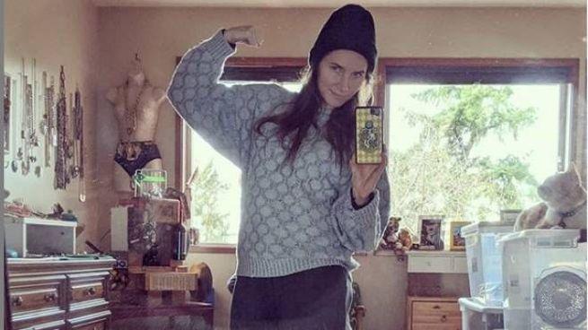 Il selfie di Amanda Knox postato su Instagram