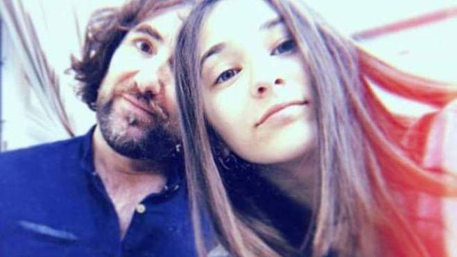 Giulia Salotti con il padre Massimiliano, rimasto ustionato nel rogo