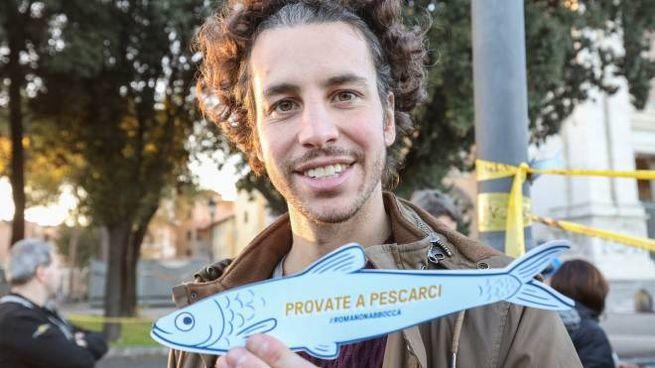 Mattia Santori, uno degli ideatori delle Sardine (Imagoeconomica)