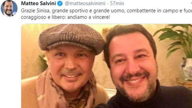 Il post di Salvini con Mihajlovic