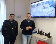 Il sindaco Giovanni Gargano insieme al comandante della polizia locale di Castelfranco Cesare Augusto Dinapoli