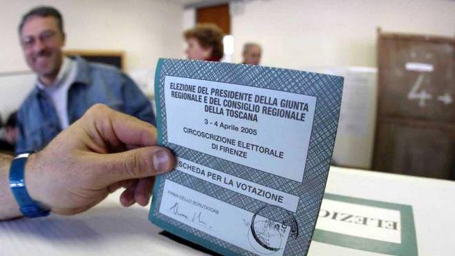 La scheda di una precedente tornata elettorale in Toscana