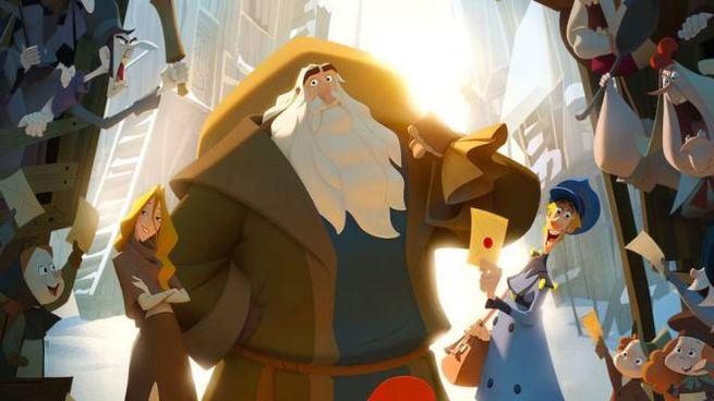Dettaglio del poster di 'Klaus - I segreti del Natale' - Foto: Netflix