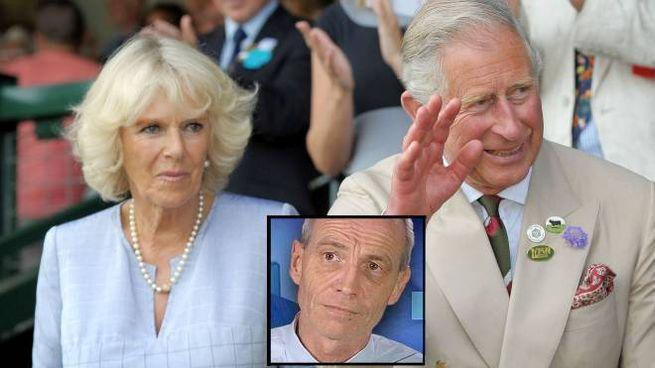 Carlo e Camilla. Nella foto piccola Simon Dorante-Day