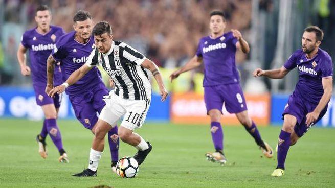 Una delle ultime sfide fra Juve e Fiorentina disputate a Torino