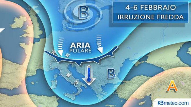 Le previsioni del tempo per la prossima settimana (3bmeteo)