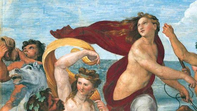 """Un dettaglio del """"Trionfo di Galatea"""" di Raffaello"""