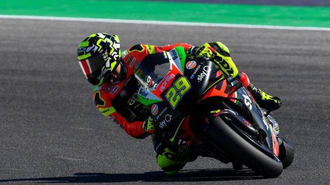Andrea Iannone in pista (foto Ansa)