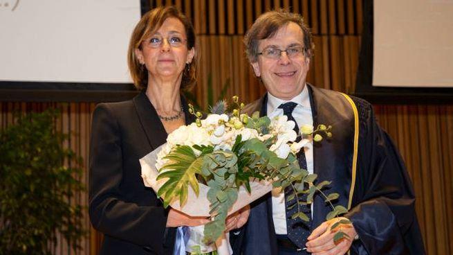 Marta Cartabia ed Elio Franzini all'inaugurazione dell'anno accademico