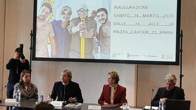 Da sinistra: Clarice Pecori Giraldi, Andrea Gnassi, Letizia Moratti e Luca Cipelletti