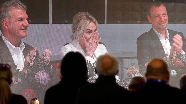 Sanremo, Antonella Clerici piange in conferenza stampa (Ansa)