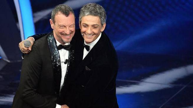 Sanremo 2020, Amadeus e Fiorello (Ansa)