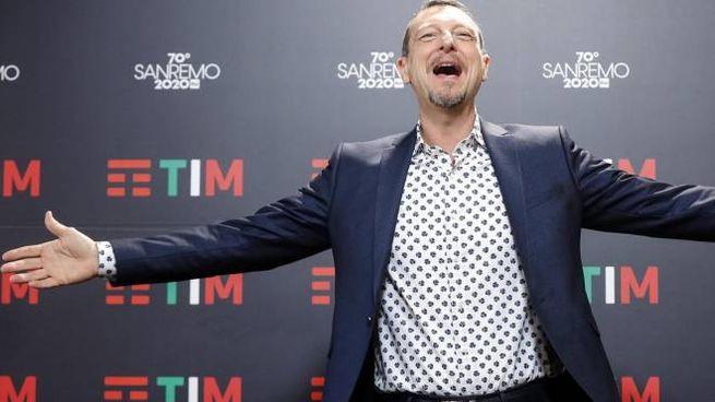 Sanremo 2020, Amadeus (foto Ansa)