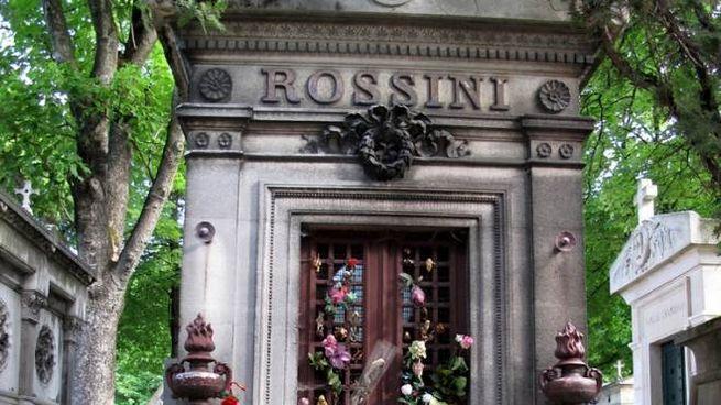 Il monumento funebre di Rossini a Parigi