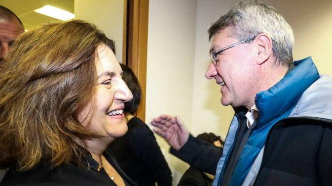Il ministro del Lavoro, Nunzia Catalfo e il leader Cgil Maurizio Landini (ImagoE)