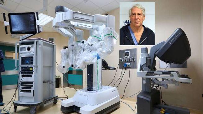 Il robot con cui è stata eseguita l'operazione, nel riquadro Elio Jovine