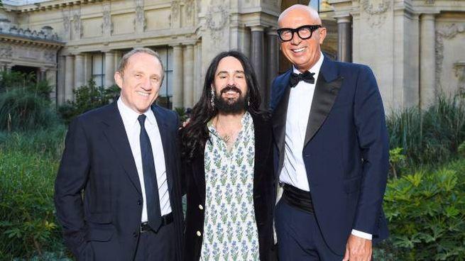 François-Henri Pinault, Alessandro Michele e Marco Bizzarri
