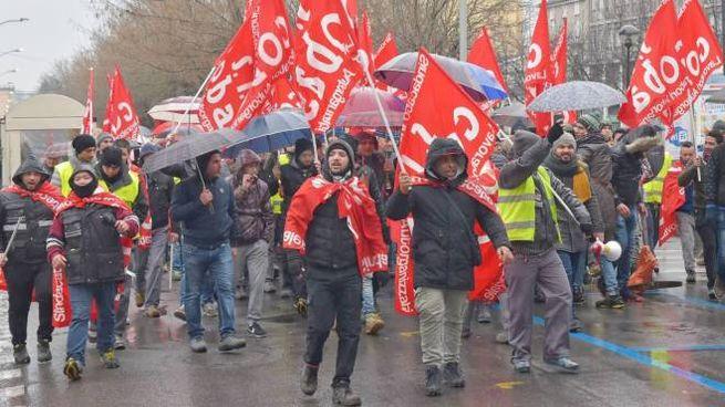 Una manifestazione dei lavoratori