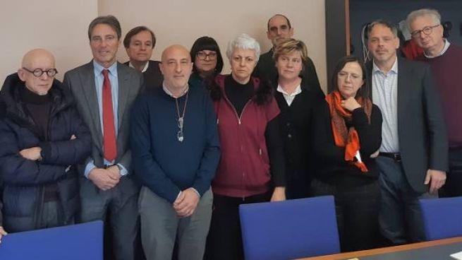 Il dottor Renzo Berti e il gruppo di lavoro