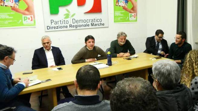 Incontro del Pd nella sede di piazza Stamira ad Ancona (foto Emma)