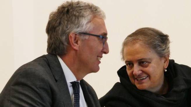 Il governatore delle Marche, Luca Ceriscioli e la sindaca di Ancona, Valeria Mancinelli