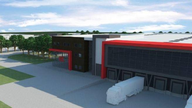 Ecco come sarà lo stabilimento di Kramp Srl dell'area Nord  (Foto Dire)