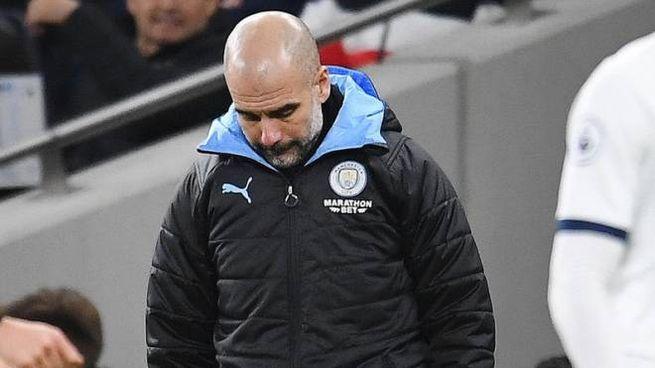 Pep Guardiola, allenatore del Manchester City (Ansa)