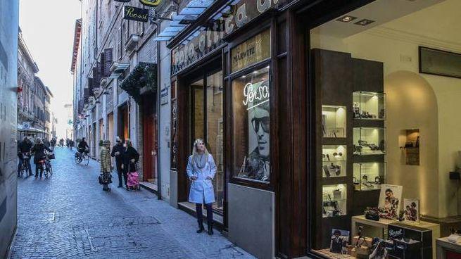 Corso XI settembre a Pesaro, dove i tifosi Fortitudo sono stati aggrediti (Fotoprint)