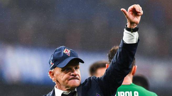 Beppe Iachini al termine di Sampdoria-Fiorentina (Ansa)