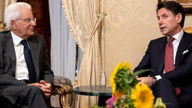 Il Presidente Sergio Mattarella  con il premier Giuseppe Conte (ImagoE)