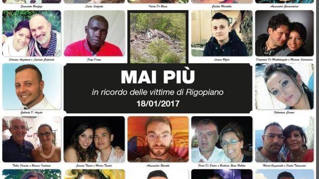 Le 29 vittime di Rigopiano e l'appello delle famiglie: mai più