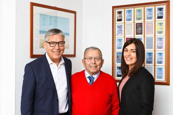 Da sinistra: Luca, Franco e Francesca Berti,. vertici di Caber. Dal 1968 producono la Salamoia Bolognese