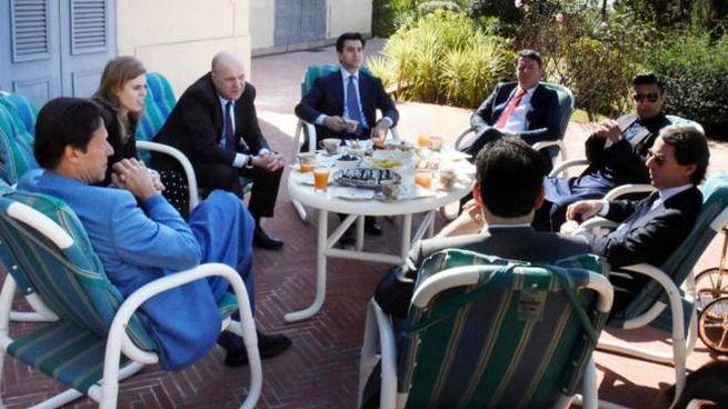 Matteo Renzi in Pakistan con il premier Imran Khan e Josè Maria Aznar