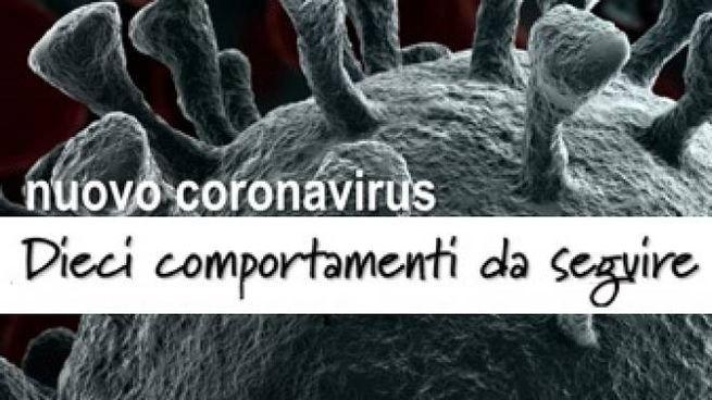 Il decalogo per prevenire il coronavirus
