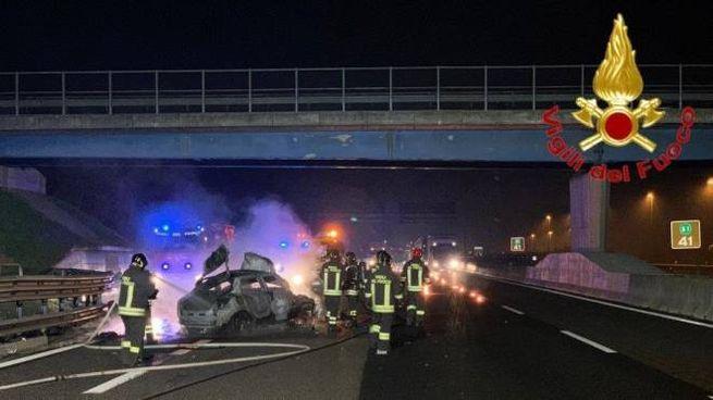 Il luogo dell'incidente in A1