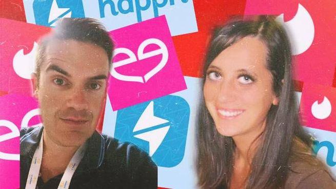Francesco Marinari e Rossella Conte, che hanno realizzato l'inchiesta sul dating online