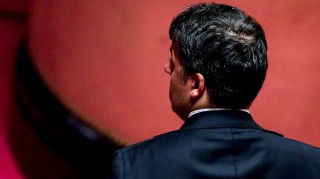 Matteo Renzi in Senato per il decreto intercettazioni (Ansa)