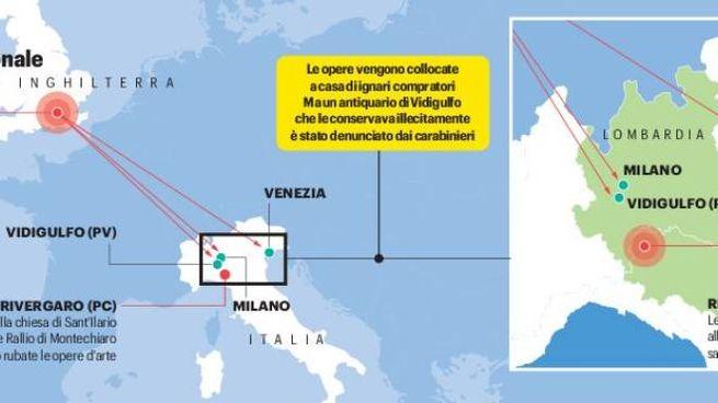 Il traffico tra Venezia, Piacenza e Pavia