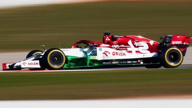 Kimi Raikkonen su Alfa Romeo Racing (Ansa)