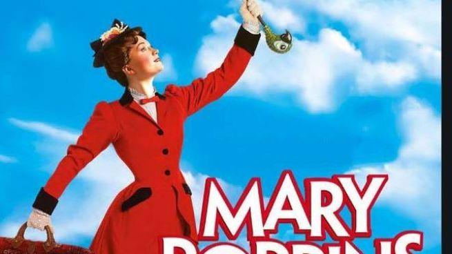 La locandina del musical Mary Poppins