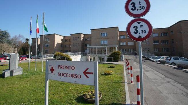 L'esterno dell'ospedale di Codogno