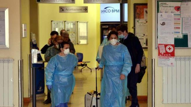 Coronavirus, l'ospedale di Codogno (Ansa)