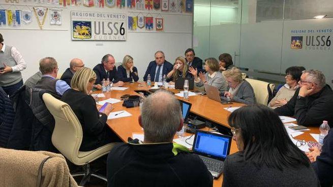 Unità di crisi sul Coronavirus a Padova (Ansa)