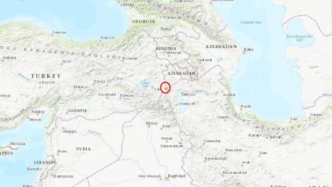 terremoto tra Turchia e Iran (Usgs)