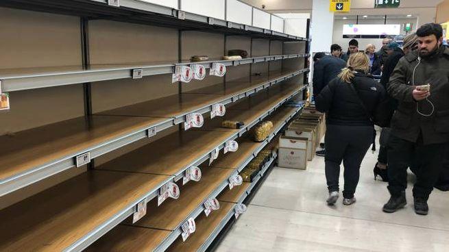 Supermercato depredato nel Milanese (Ansa)